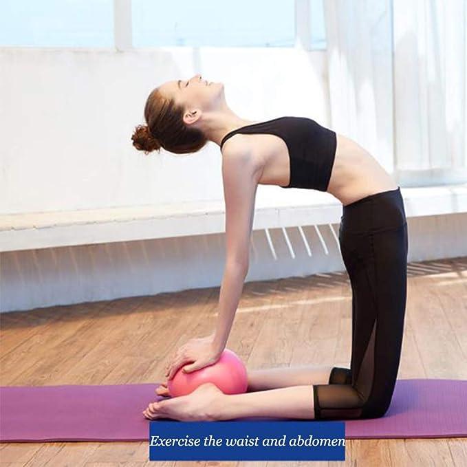 Xinlie Pelota Pilates Pequeña Pelota Fisioterapia Mini Pelota de Ejercicio 25cm Pilates Yoga Ejercicio Gimnasia Fitness Pilates Pelota Equilibrio A Prueba ...