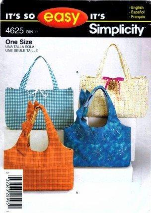 Simplicity Purse Patterns (Simplicity 4625 Sewing Pattern Bag Handbag Tote Purse)