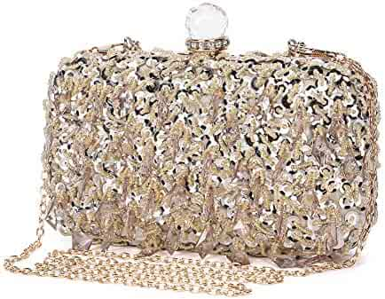 a1b8281e037 UBORSE Women Wedding Clutch Rhinestone Bling Sequin Evening Bags Vintage Crystal  Beaded Cocktail Party Party Purse