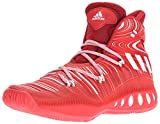 adidas Performance Men's Shoes | Crazy Explosive Basketball, Scarlet/White/University Red, (11.5 M US)