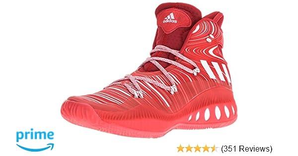 pretty nice 11fd5 63e23 Amazon.com   adidas Men s Crazy Explosive Basketball Shoes,  Scarlet White University Red, ((6.5 M US)   Basketball