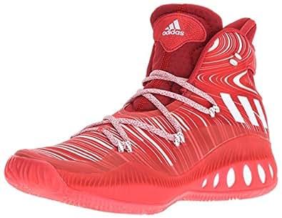 adidas Men's Crazy Explosive Basketball Shoes, Scarlet/White/University Red, (6.5 M US)