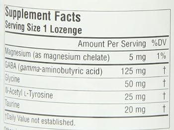 Source Naturals Serene Science GABA Calm, Orange Flavor, 120 Lozenges. Pack of 1 Bottle