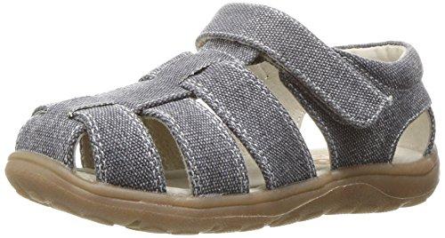 See Kai Run Boys' Dillon II Boat Shoe, Gray Canvas, 12.5 M US Little (Canvas Fisherman Sandals)