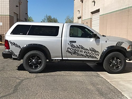 Rebel Or Ram Power Wagon Side Decal Graphics In Matte Black (Gloss Black) avery 5132016