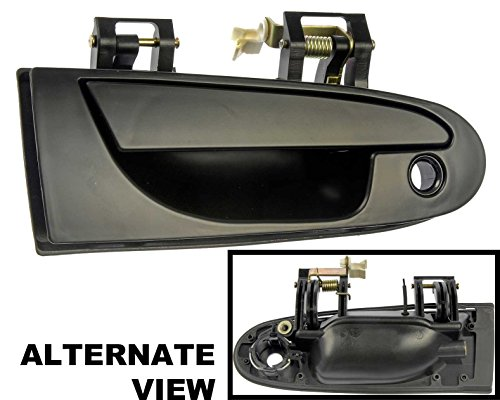 Chrysler Various Models (APDTY 88505 Exterior Door Handle Front Right (Passenger) Smooth Black 1995-2000 Chrysler/Dodge/Mitsubishi Various Model View Compatibility Chart To Verfiy Fitment Replaces # MB913152,MR712053,MR712059)