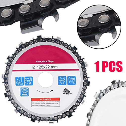 Saw Blades - 5 Inch Angle Grinder Disc Saw Blade 14 Tooth Cut Chain Woodworking Carving Wood Durable - Cutting Bimetal Skillsaw Kerf Knock Metal Oscillating Tiger Holder Dado Thin Dremel Maki
