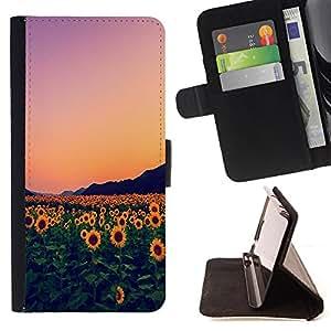 - Sunflower Sun flower - - Monedero PU titular de la tarjeta de cr?dito de cuero cubierta de la caja de la bolsa FOR LG G2 D800 Retro Candy