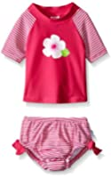 i play. Baby Girls' Swim Set with Built-In Reusable Absorbent Swim Diaper