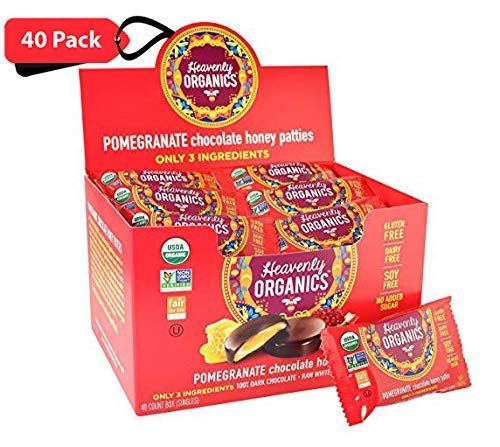 Heavenly Organics Miel Pattie, Chocolate Pomegranate, 40 ...