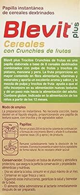 Blevit Plus Trocitos Cereales con Crunchies de Frutas - Paquete de 2 x 300 gr - Total: 600 gr