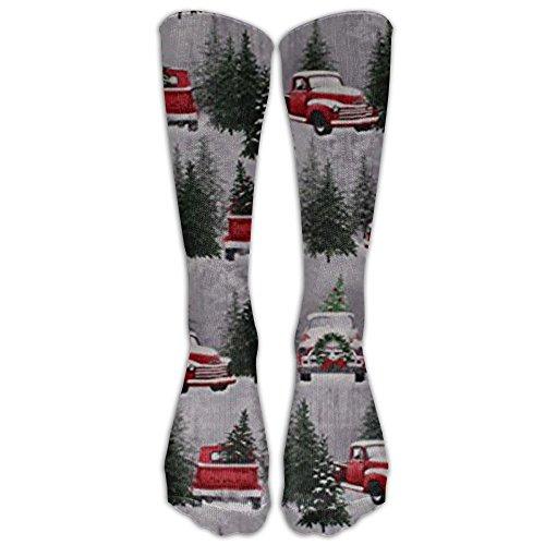 Christmas Tree Farm Trucks Retro Long Dress Socks Cotton Sport Comfortable Breathable Over-the-Calf Tube (40cm)