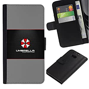 YiPhone /// Tirón de la caja Cartera de cuero con ranuras para tarjetas - Umbrella Corp - HTC One M8