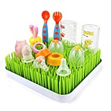 Sealive 1 Set/3pcs Baby Bottle Countertop Drying Rack Green Dry Rack,Portable Bottle Brush Cleaner Dish Drainer Rack Tray Dry Tools for Home Kitchen Cleaning Dryer Accessories,10''x10''x2.5''