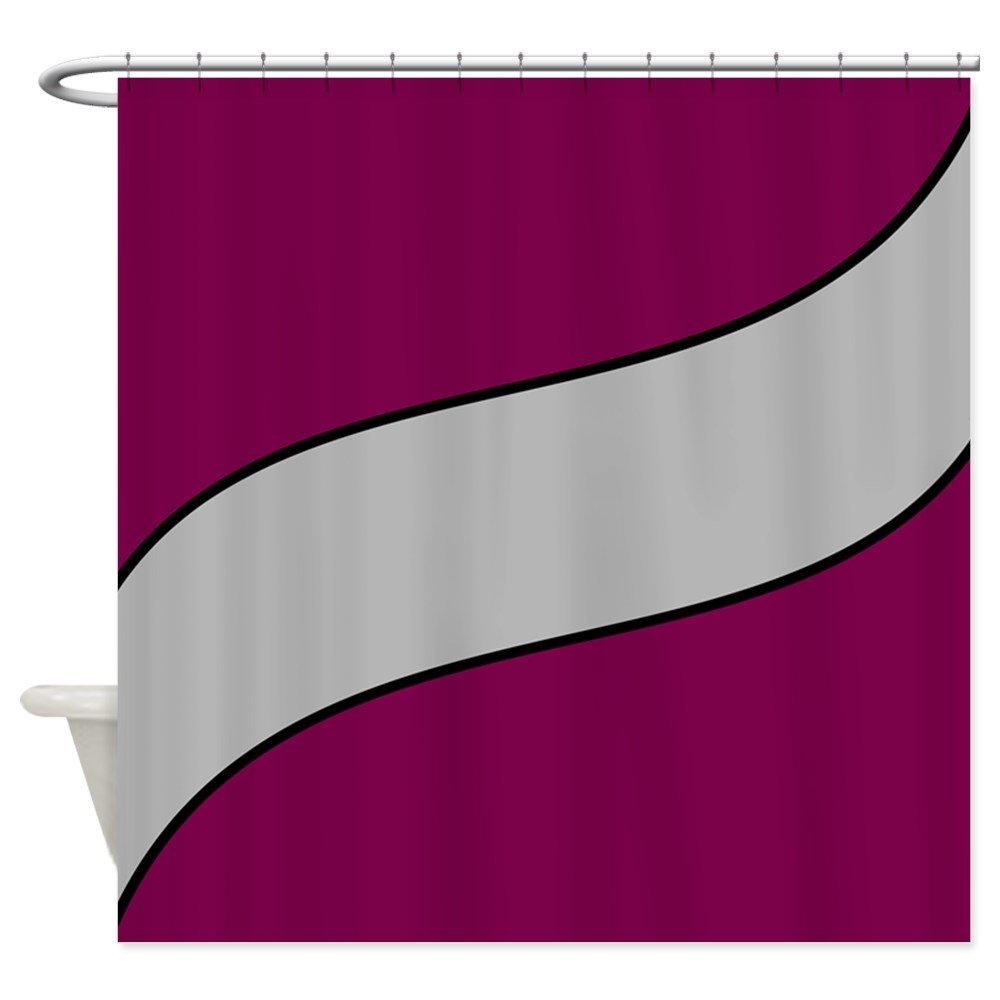 Amazon CafePress Maroon And Gray Shower Curtain Decorative Fabric 69x70 Home Kitchen