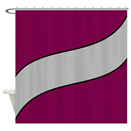 CafePress Maroon And Gray Shower Curtain Decorative Fabric 69quot
