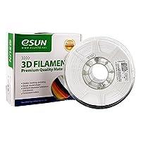 eSUN 3D 1.75mm PETG White Filament 1kg (2.2lb), PETG 3D Printer Filament, 1.75mm Solid Opaque White by ESUN