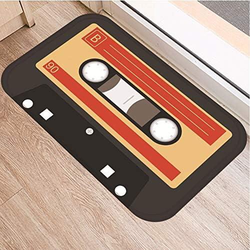 OPLJ Cinta de cassette para el suelo, antideslizante, alfombra para puerta de baño, cocina, entrada, decoración del hogar, alfombra A12, 60 x 180 cm