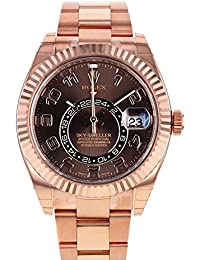 Sky Dweller Chocolate Dial Rose Gold Men's Watch 326935