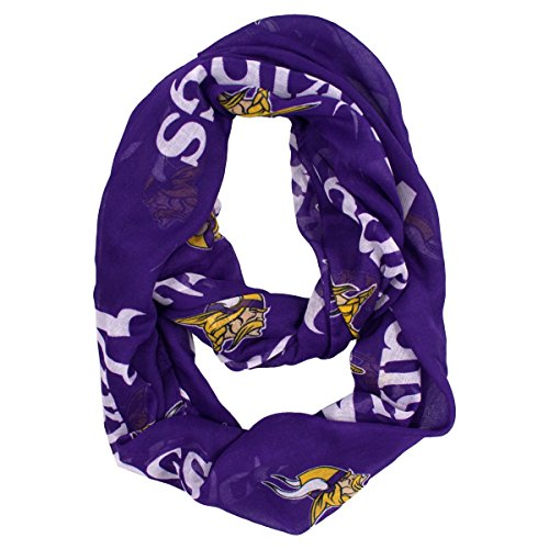 Nfl Scarves Shop (NFL Minnesota Vikings Sheer Infinity Scarf, One Size, Purple)