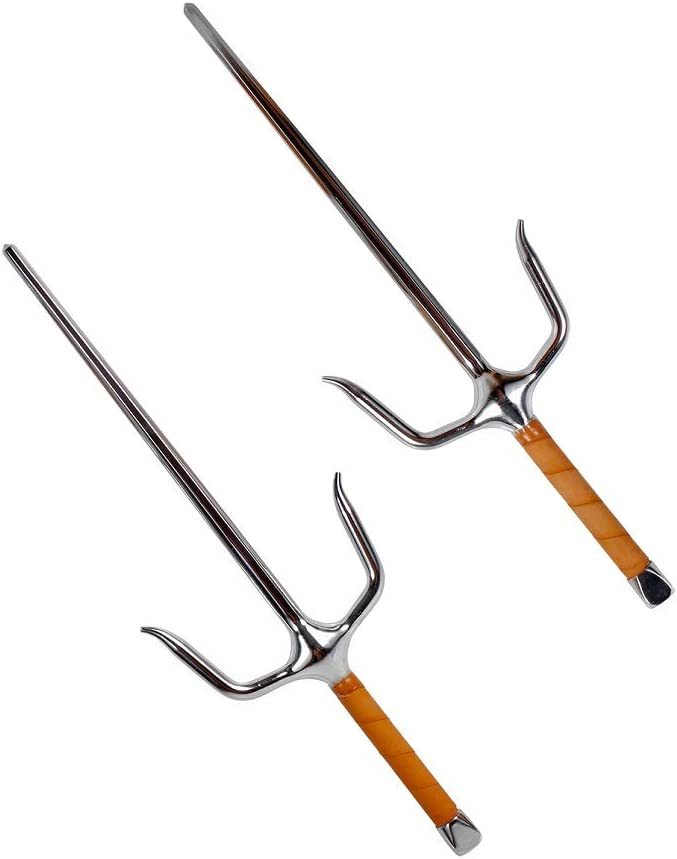 Japanese Deluxe Forged Fire Steel Octagon Chrome SAIS Pair