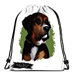 Drawstring Backpack Bags Sports Cinch Austrian Black And Tan Hound Dog Breed Digital Art White String Backpack Bulk Storage Bags For School Gym