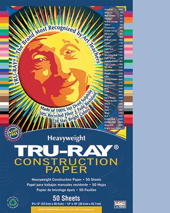 20 Pack PACON CORPORATION TRU-RAY CONSTRUCTION PAPER 9 X 12