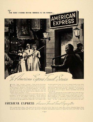 American Express China (1937 Ad American Express Travel Service Tourists China - Original Print Ad)
