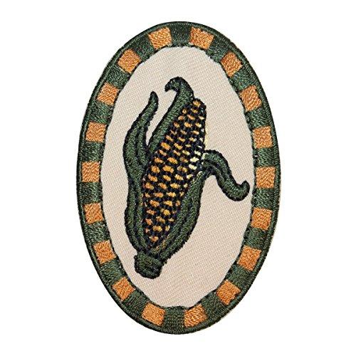 (ID 1228Z Fresh Corn Badge Patch Farm Husk Veggies Embroidered Iron On Applique )