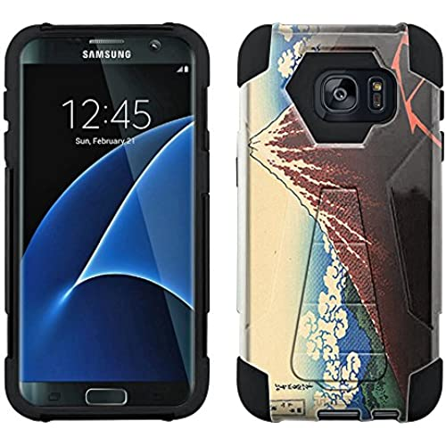 Samsung Galaxy S7 Edge Hybrid Case Katsushika Hokusa Lightnings Below the Summit 2 Piece Style Silicone Case Cover with Stand for Samsung Galaxy S7 Edge Sales