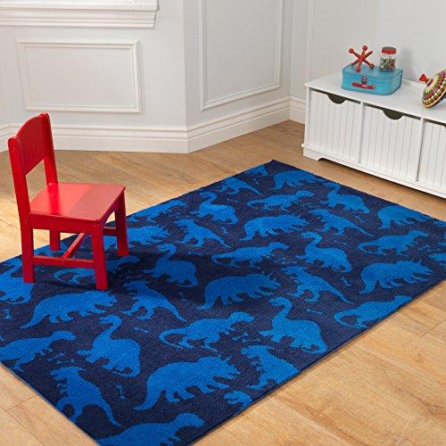 Kidkraft Kids Dinosaur Rug Blue 4 X 6 Home Decor