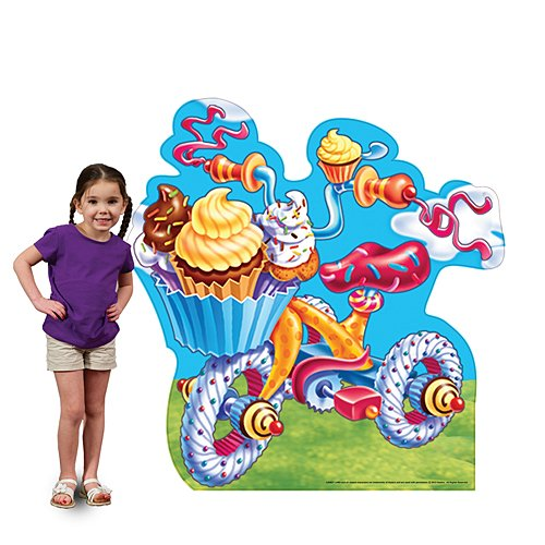 2 ft. 7 in. Candy Land Tricycle Standee Standup Photo Booth Prop Background Backdrop Party Decoration Decor Scene Setter Cardboard Cutout]()