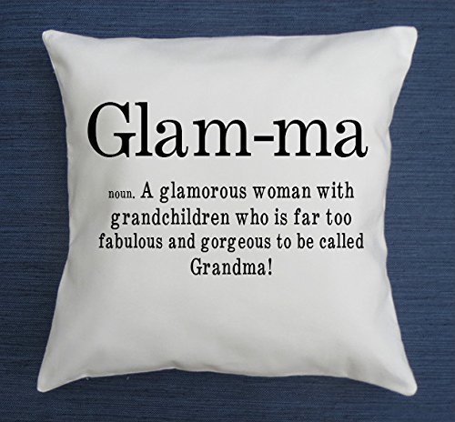 Glam-ma definition, funny throw pillow cover, glamma pillow cover, grandma pillow cover, grandmother gift, mothers day, grandmother birthday, new grandmother gift,