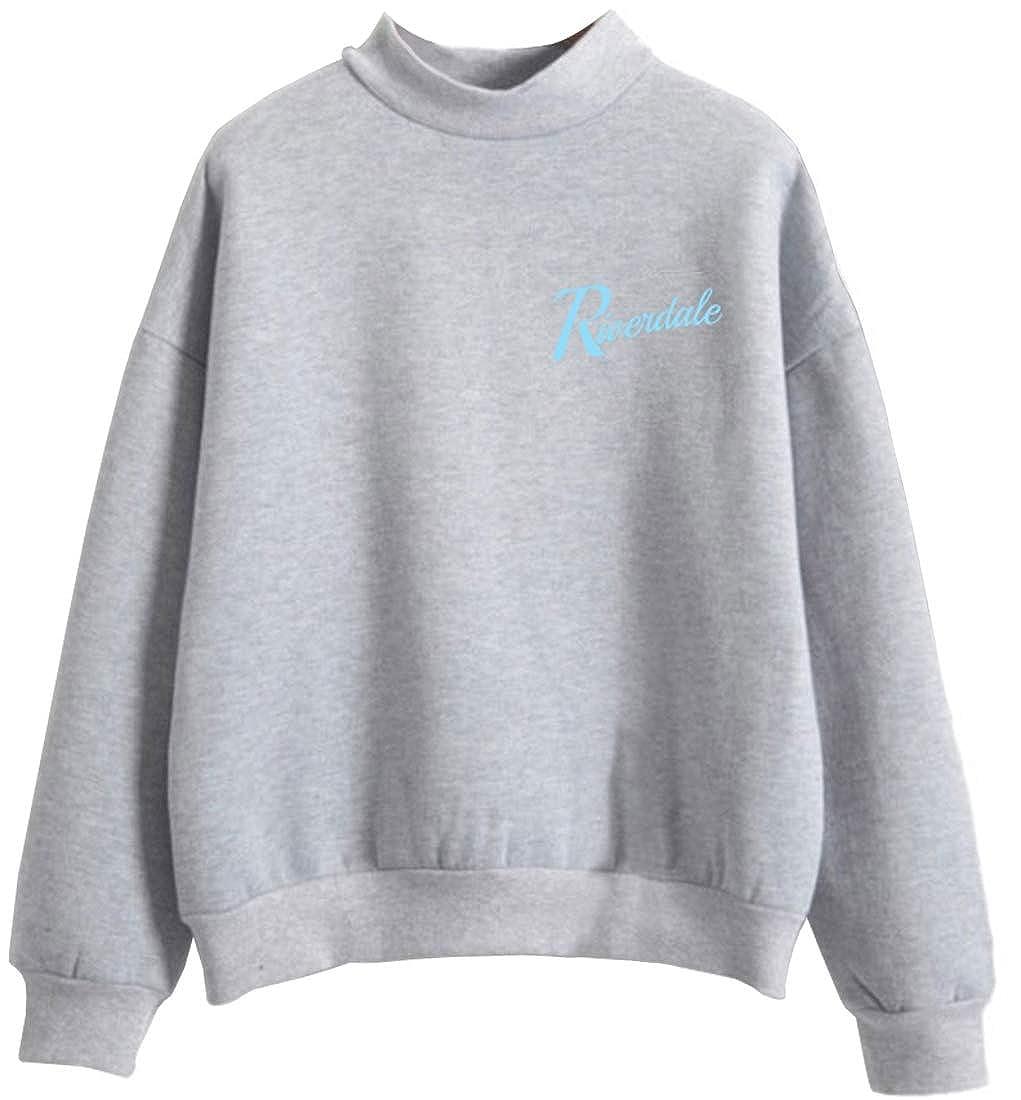Eudolah Mens Riverdale High Neck Inspired Serpents Printed Pullover Southside Sweatshirt