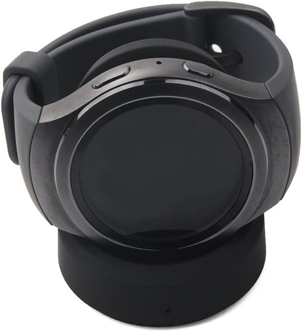 YockTec Samsung Gear Sport R600 Cargador Soporte de Carga Inalámbrico Soporte de Repuesto Cuna de Carga para Samsung Gear Sport SM-R600 Smartwatch (Negro)