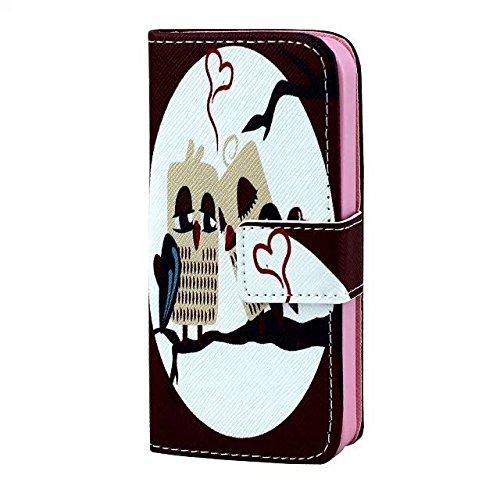 IPhone 5c Housse en Cuir Wallet Flip Case -Yaobai Protecteur Wallet Shell Housse Coque Etui avec TPU Soft Skin Case Cover avec des fentes de carte de credit Pour Apple iphone 5c