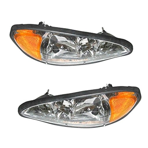 Pontiac Grand Am 1999-2005 99 00 01 02 03 04 05 Head Light Headlight Pair Set