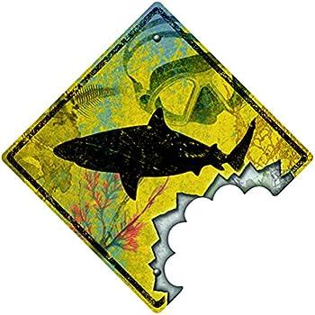 Amazon.com: GREAT WHITE SHARK Street Sign week ocean dangerous teeth ...