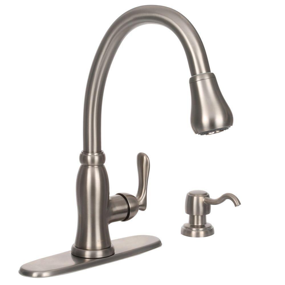 Pegasus 67070-0808D2 Pavilion Single Handle Kitchen Faucet with Soap Dispenser