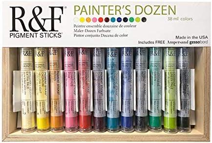 R&F Handmade Paints 2950 Oil Pigment Stick Set of 12 Colors Painters Dozen