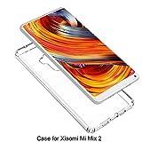 M.G.R.J Ultra Thin 0.33mm Clear Transparent Flexible Soft TPU Slim Back Case Cover for Xiaomi Mi Mix 2