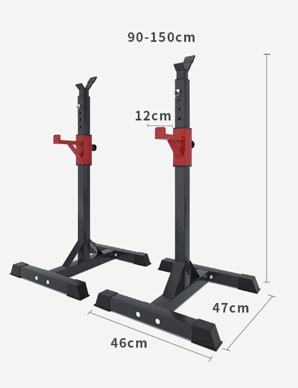 Height Adjustable Fitness Equipment Home Gym IndoorSiamese Adjustable Squat Rack Squat Rack Barbell Rack Load 260kg Squat Stands Rack Weight Rack Gym Rack Squat And Bench Press Rack Dumbbell Stand