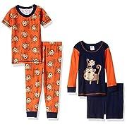 Gerber Baby Boys' 4 Piece Pajama Set, Monkey, 12 Months