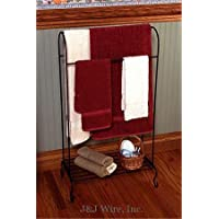 Quilt Rack with Lower Shelf For More Storage 3 Bars To Display and Organize You Quilts Made of Durable Wrought Iron In USA In Black Color
