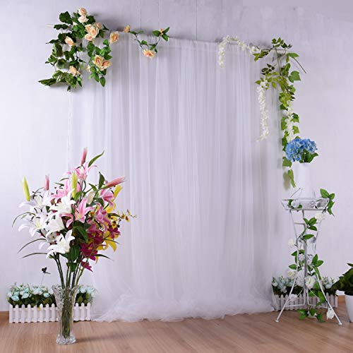 White Tulle Backdrop Curtains