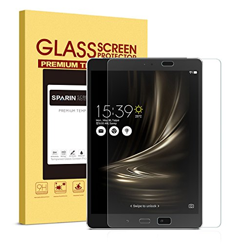 ZenPad 3S 10 9.7'' Screen Protector, SPARIN Tempered Glass Screen Protector for ASUS Zenpad 3S 10- High Definition / 2.5D Round Edge / Scratch Resistant (Z500M) (Asus 10 Tablet Screen Protector)