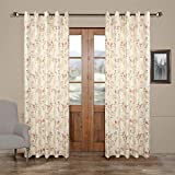 Cheap 100″W x 102″L (Set of 2 panels) Multi Size Available Custom Modern Country Rustic Floral Branches Cotton Polyester Blend Print Grommet Top Lined Blackout Window Treatment Draperies & Curtains Panels