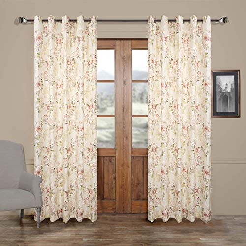 50″W x 63″L (Set of 1 panel) 20 size available Custom Modern Country Rustic Floral Branches Cotton Polyester Blend Print Grommet Top Lined Blackout Window Treatment Draperies & Curtains Panels