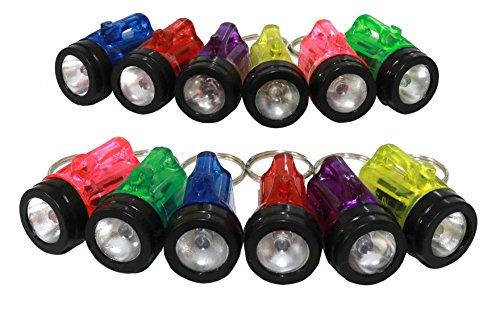 Plastic Flashlight Keychain - 12 Mini Flashlights