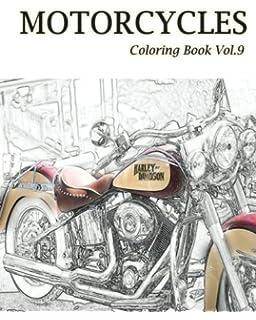 Motorcycle Coloring Book 1 (Volume 1): Nick Snels: 9781519308269 ...